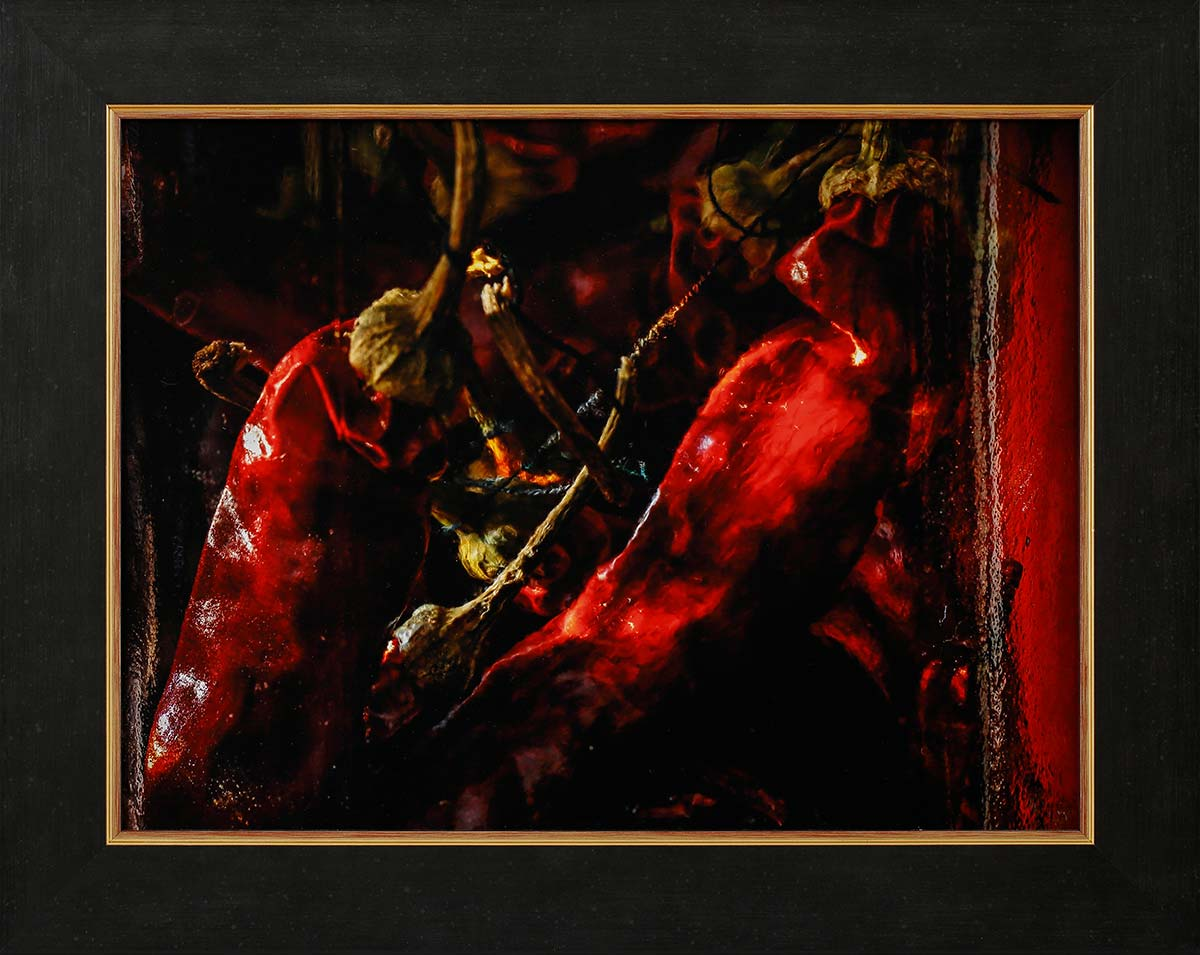 """Red hot 1: Fine art print 39x30cm. Including frame 49x40cm. Including """"Image clear glass"""" Edition 1 out of 10. With numbered certificate. € 295,-"""